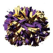 Purple and Gold Extra Large Pom Pom
