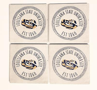 LSU Legacy Southern Pastime 4 pack Coaster Set