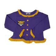 Ishtex Toddler Purple And Gold Long Sleeve Cardigan