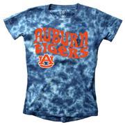 Auburn Wes And Willy Girls Tie Dye Retro Tee