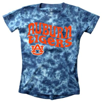 Auburn Wes and Willy Girls Tie Dye Retro Tee