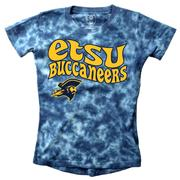Etsu Wes And Willy Girls Tie Dye Retro Tee