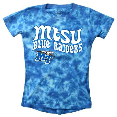 MTSU Wes and Willy Girls Tie Dye Retro Tee