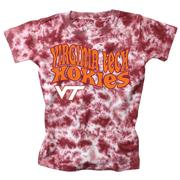 Virginia Tech Wes And Willy Youth Tie Dye Retro Tee