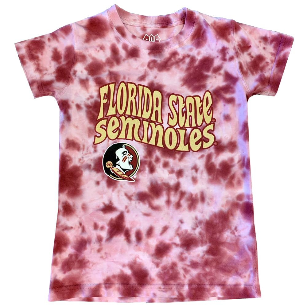 Florida State Wes And Willy Girls Tie Dye Retro Tee