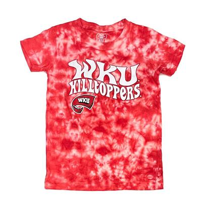 Western Kentucky Wes and Willy Girls Tie Dye Retro Tee
