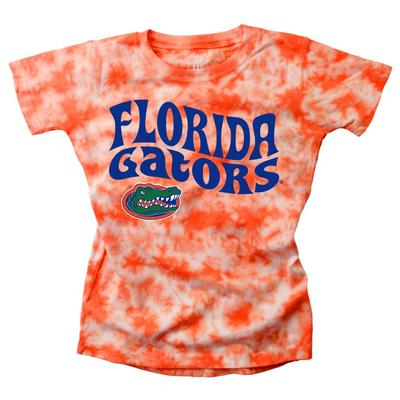 Florida Wes and Willy Girls Tie Dye Retro Tee
