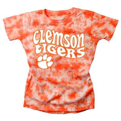 Clemson Wes and Willy YOUTH Tie Dye Retro Tee