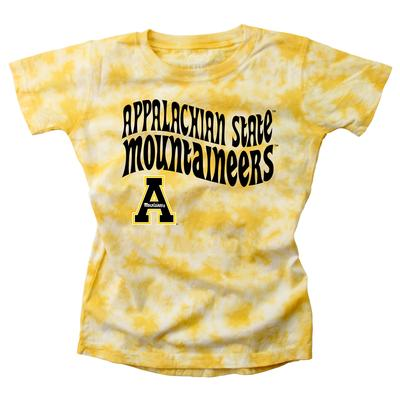 Appalachian State Wes and Willy Girls Tie Dye Retro Tee