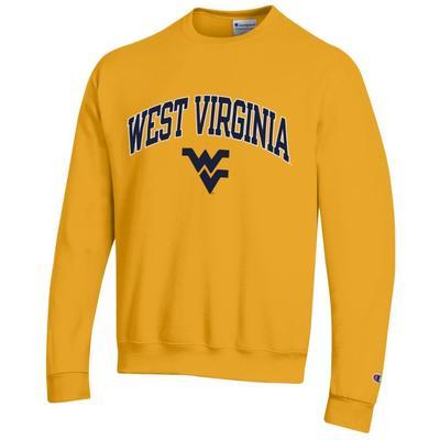 West Virginia Champion Arch Logo Fleece Crew