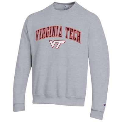 Virginia Tech Champion Arch Logo Fleece Crew
