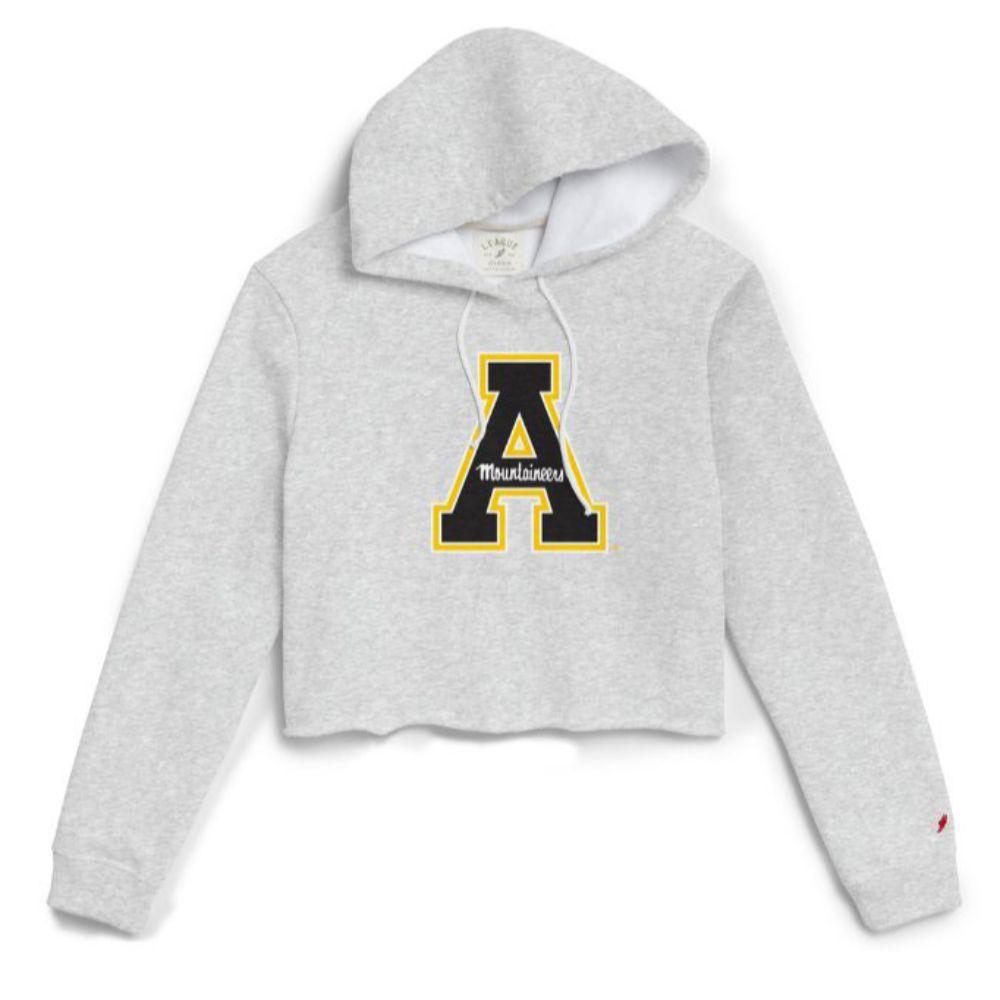 Appalachian State League Women's Block A Cropped Hoodie