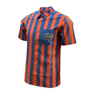 Florida Tellum and Chop Striped Hawaiian Shirt