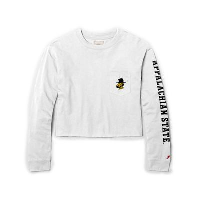 Appalachian State League Clothesline Long Sleeve Crop Top