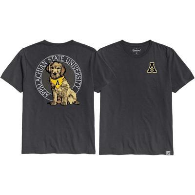 Appalachian State League Tumble Wash Rally Dog Short Sleeve Tee