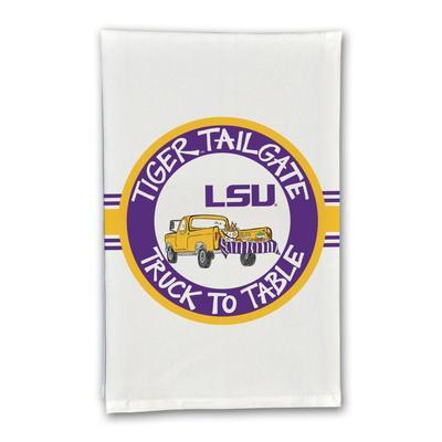 LSU Truck Hand Towel