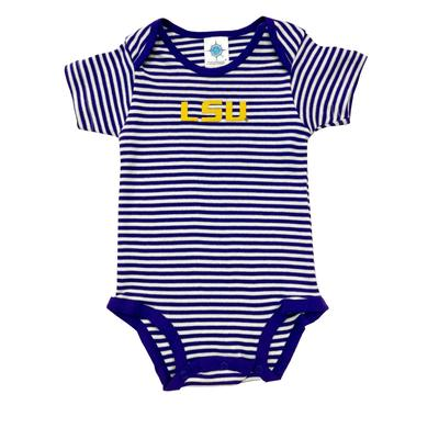 LSU Infant Striped Bodysuit