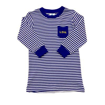 LSU Toddler Striped Pocket Tee