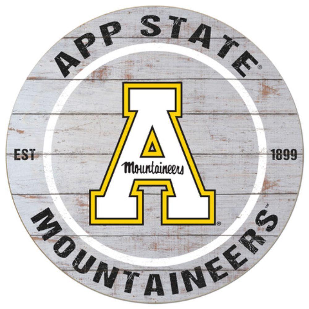 Appalachian State Classic Wood App State Circle