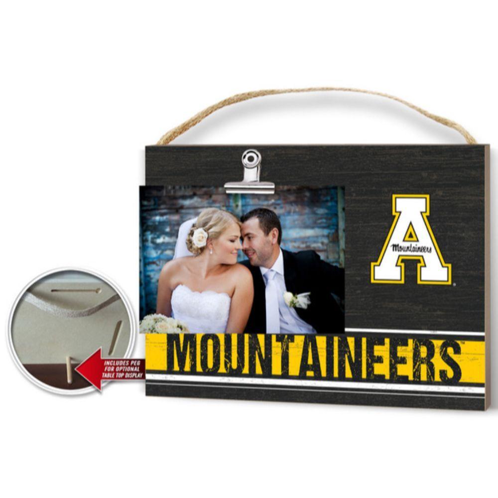 Appalachian State Clip It Photo Plaque