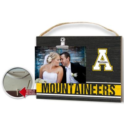 Appalachian State Clip It Photo Plaque