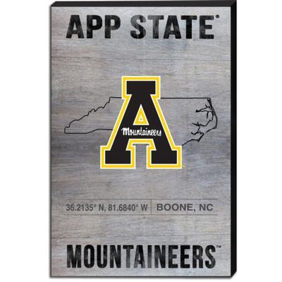 Appalachian State Coordinates Canvas