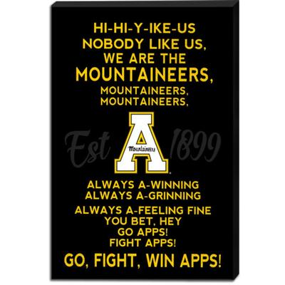 Appalachian State Fight Song Canvas