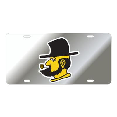 Appalachian State Silver Yosef License Plate