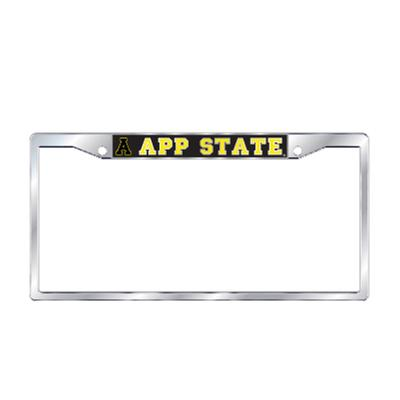 Appalachian State Silver App State License Plate Frame