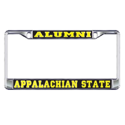 Appalachian State Silver Alumni License Plate Frame