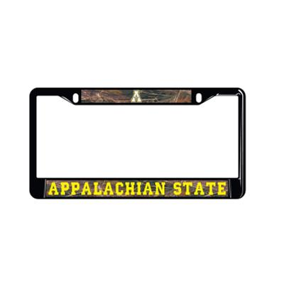 Appalachian State Metal Block A License Plate Frame