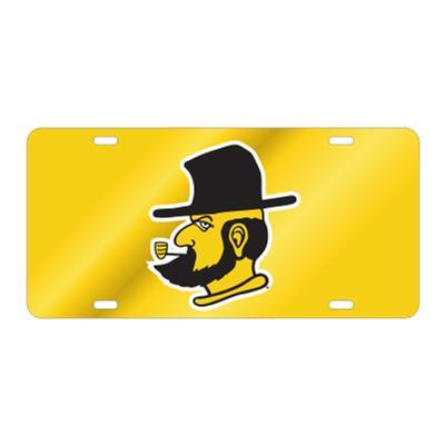 Appalachian State Gold Yosef LicensePlate