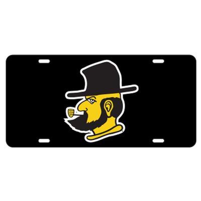 Appalachian State Black Yosef LicensePlate