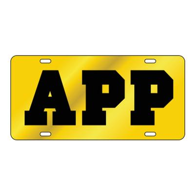 Appalachian State Gold with Black App License Plate