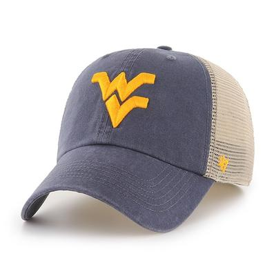 West Virginia 47' Brand Rayburn Mesh Fitted Hat