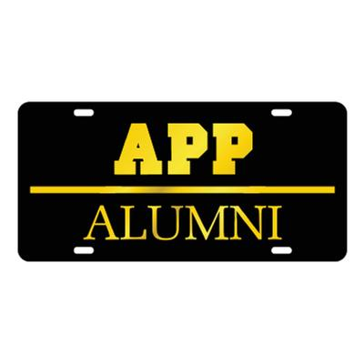 Appalachian State Black with Gold Alumni License Plate