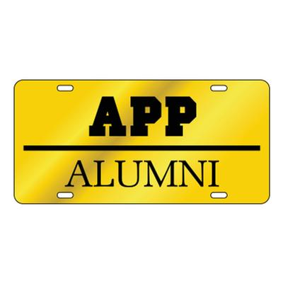Appalachian State Gold with Black Alumni License Plate