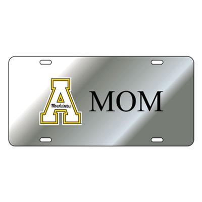 Appalachian State Silver Mom License Plate