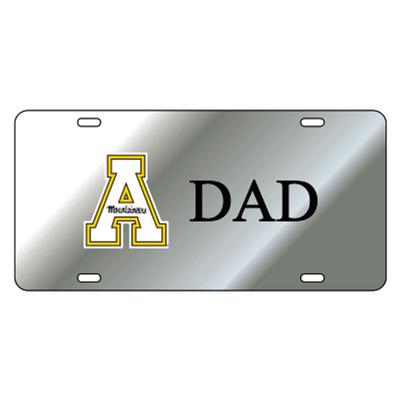 Appalachian State Silver Dad License Plate