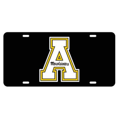 Appalachian State Black Block A License Plate