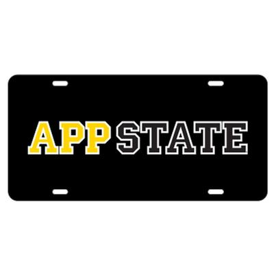 Appalachian State Black App State License Plate