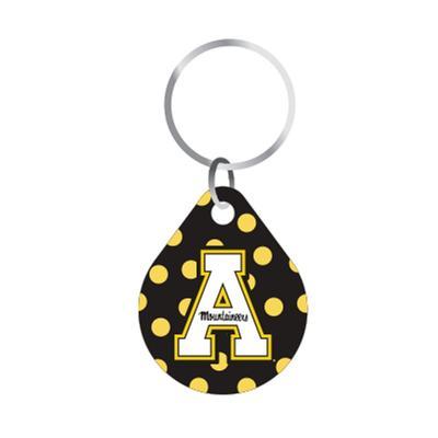 Appalachian State Dots Keychain