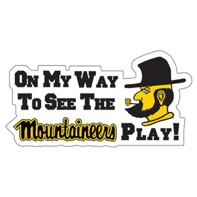 Appalachian State On My Way To See The Mountaineers Play Decal 16