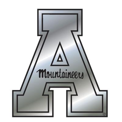 Appalachian State Silver Block A Magnet 3