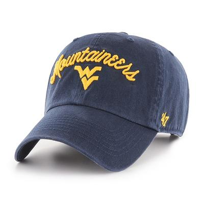 West Virginia 47' Brand Women's Script Adjustable Clean Up Hat
