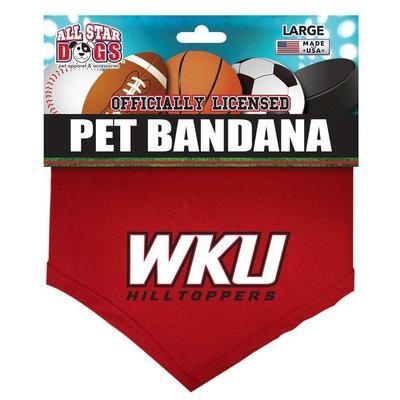 Western Kentucky Logo Pet Bandana