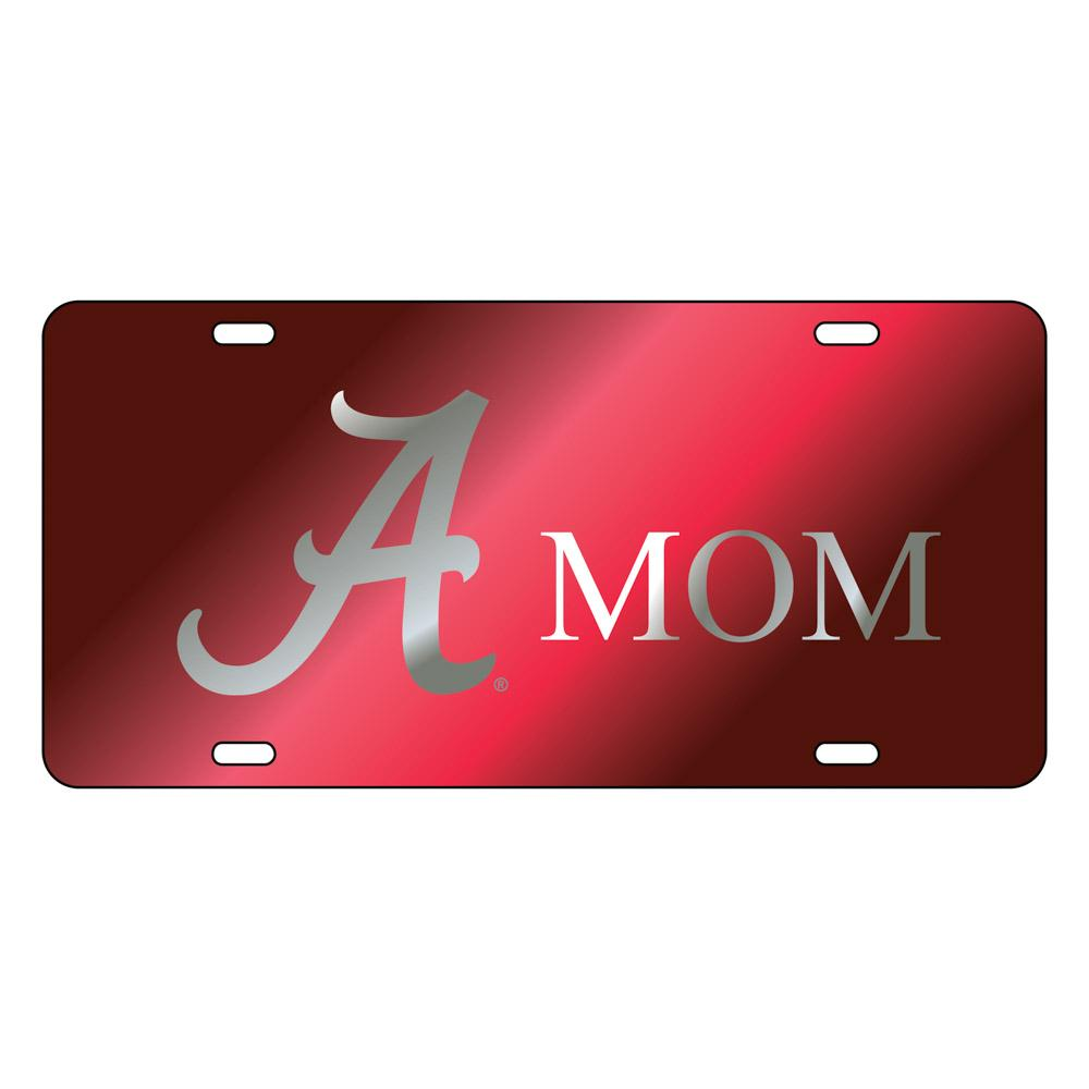 Alabama License Plate Crimson/Silver Script A Mom