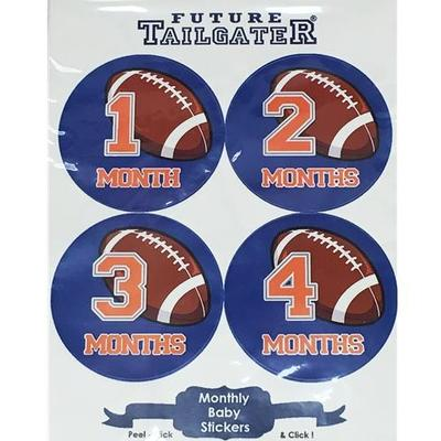 Football Monthly Baby Stickers