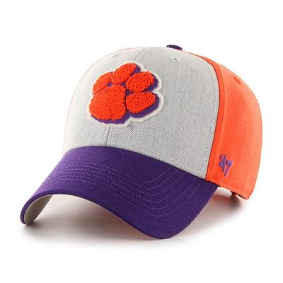Clemson 47' Brand Felt 3-Tone Adjustable Hat