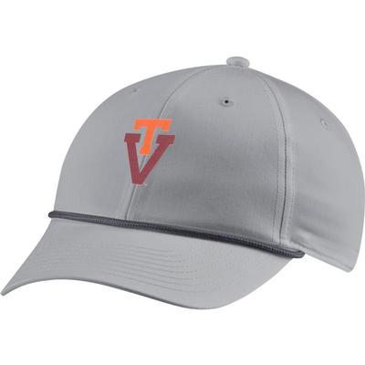 Virginia Tech Nike Golf L91 Vault Rope T Over V Logo Adjustable Hat
